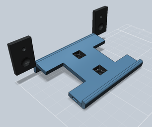 123D Practical Laptop Cooling Stand With Speakers