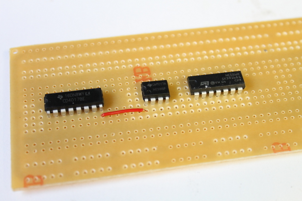 Picture of Adding the Connectors on the 4017 IC