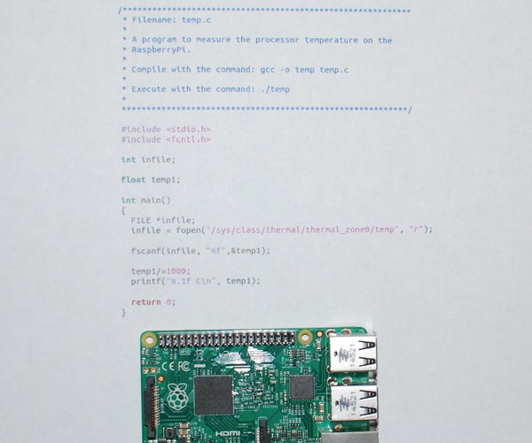 RaspberryPi 3 Temperature Monitor