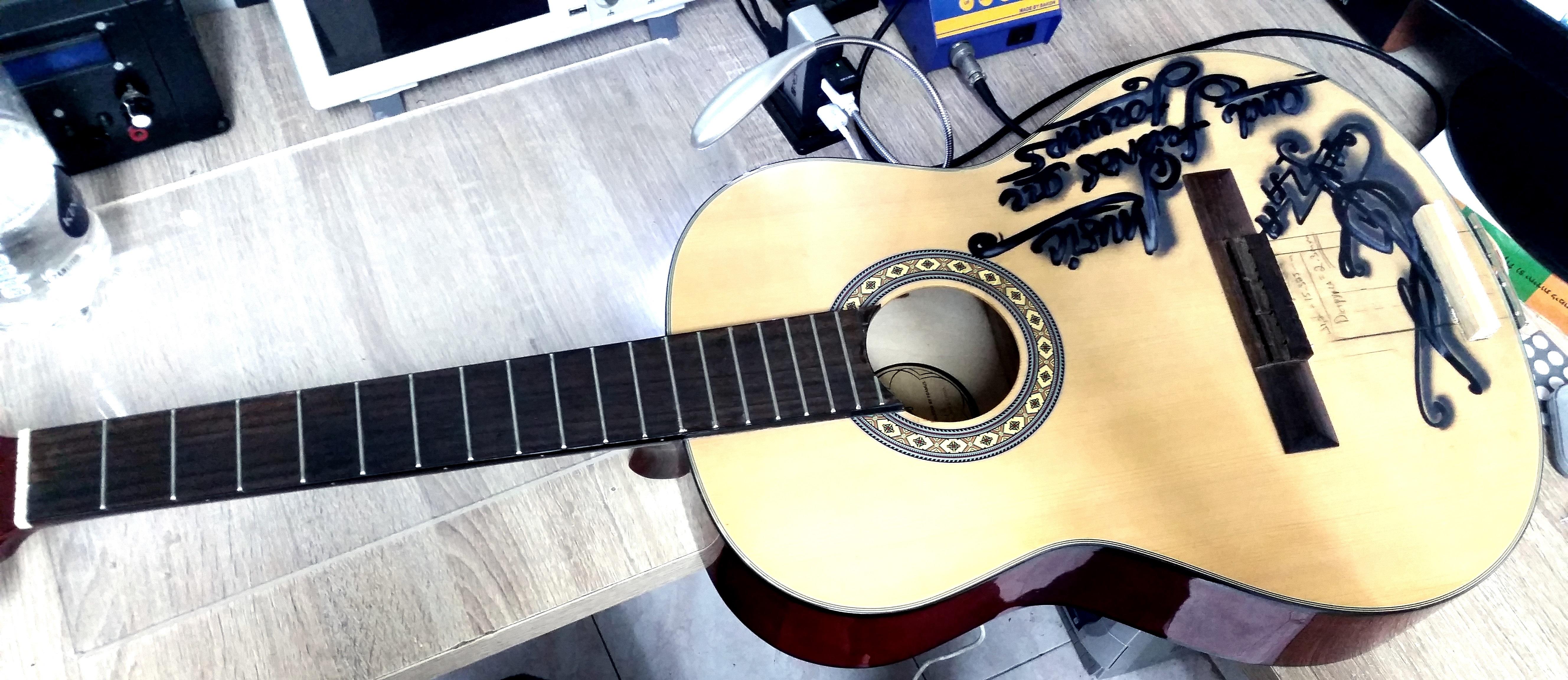 Picture of Guitar Preparing