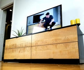 """Soundwave"" CNC Ikea Hack Dresser / Media Center"