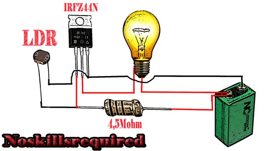 AUTOMATIC ON OFF Circuit Diagram