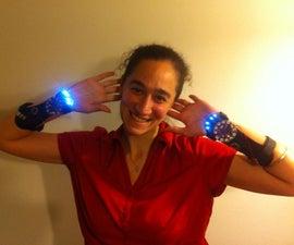 Accelerometer Controlled Light Gauntlets