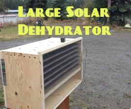 Solar Heated Large Scale Dehydrator
