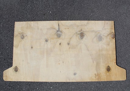 Copy the Template Shape Onto the Plywood