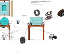 DIY Solar Robotic Dual 55 Gallon Composter