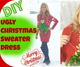 DIY Ugly Christmas Sweater Dress | Christmas Ideas