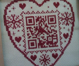 The ultimate geeky personalised gift - make a cross stitch QR code