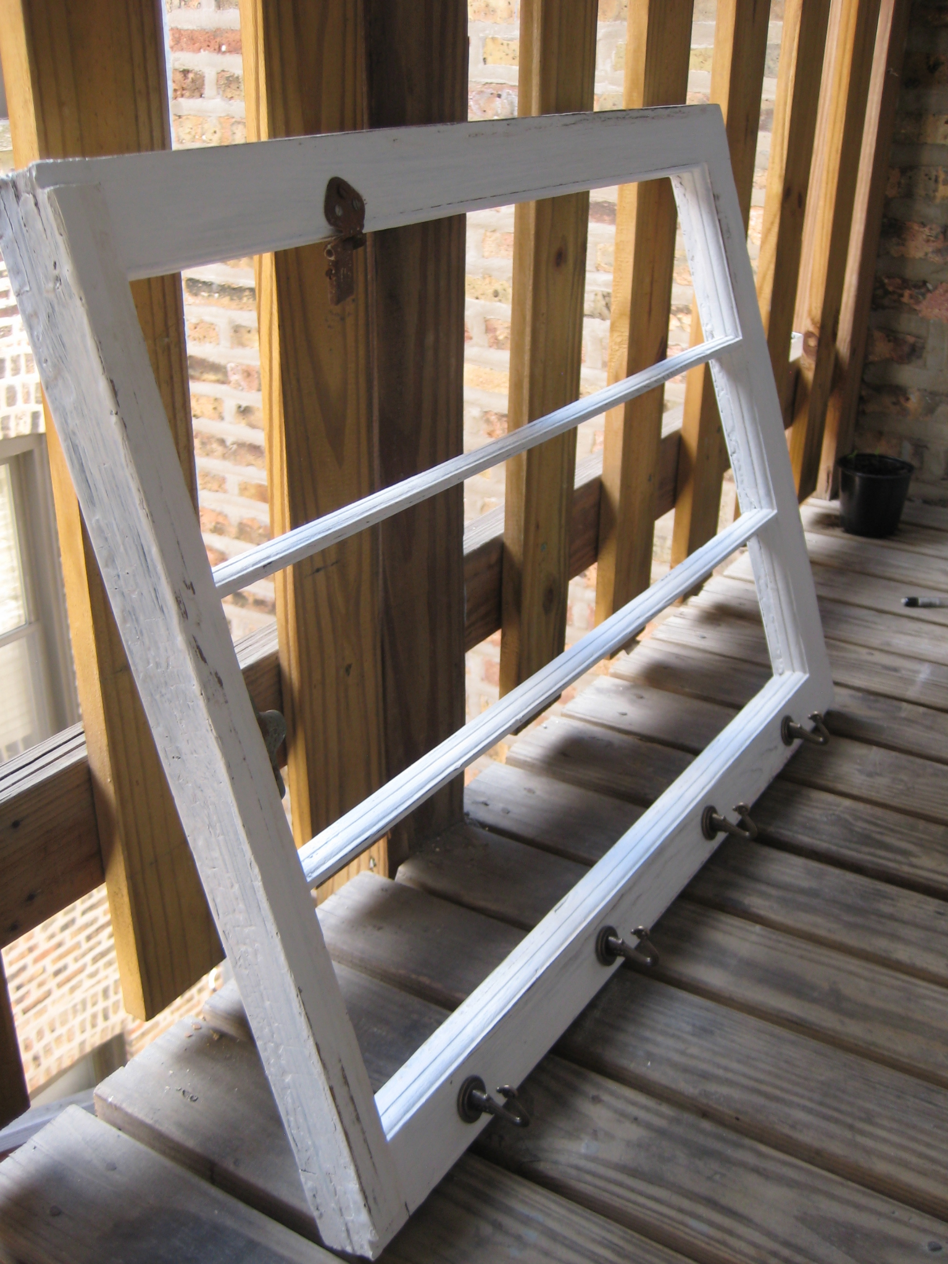 Picture of Upcycled Window Frame Scarf Organizer