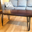 100+ Year-Old Church Door Red Oak Coffee Table
