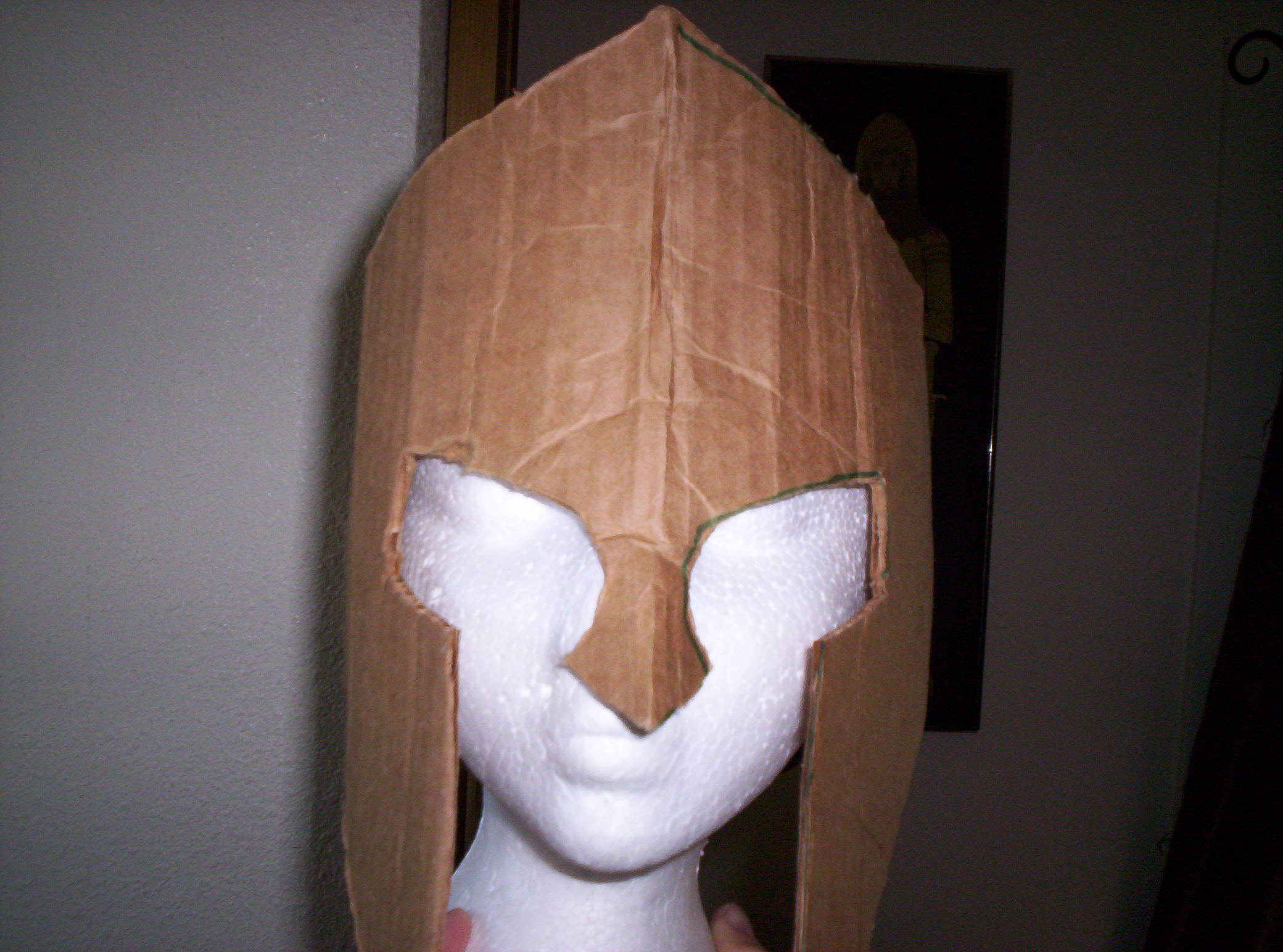 Picture of Cutting and Constructing the Cardboard Helmet