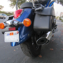 Display A Motorcycle Parking Permit Without Marring Your Paint!