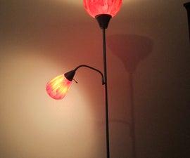 Turn a boring lamp into a pretty one!