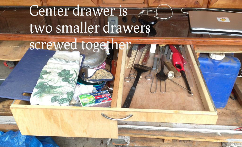 Picture of Installing the Drawers in the Galley