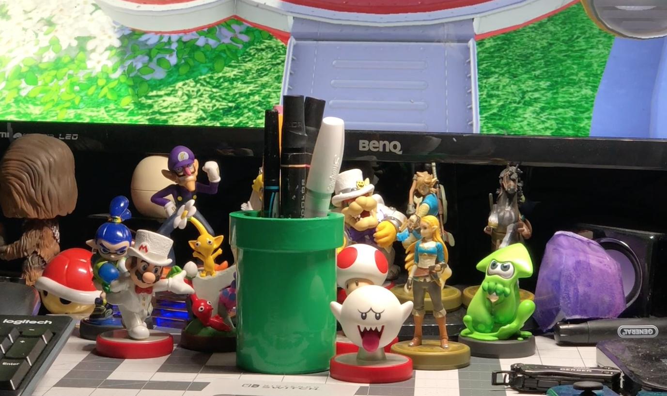 Picture of Mario Warp Pipe Pencil Holder