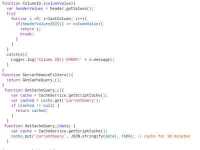 Step 2: the Back-End Code Part 2 (Server Calls.gs)