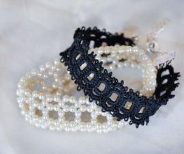 Tatted Square Border Bracelet