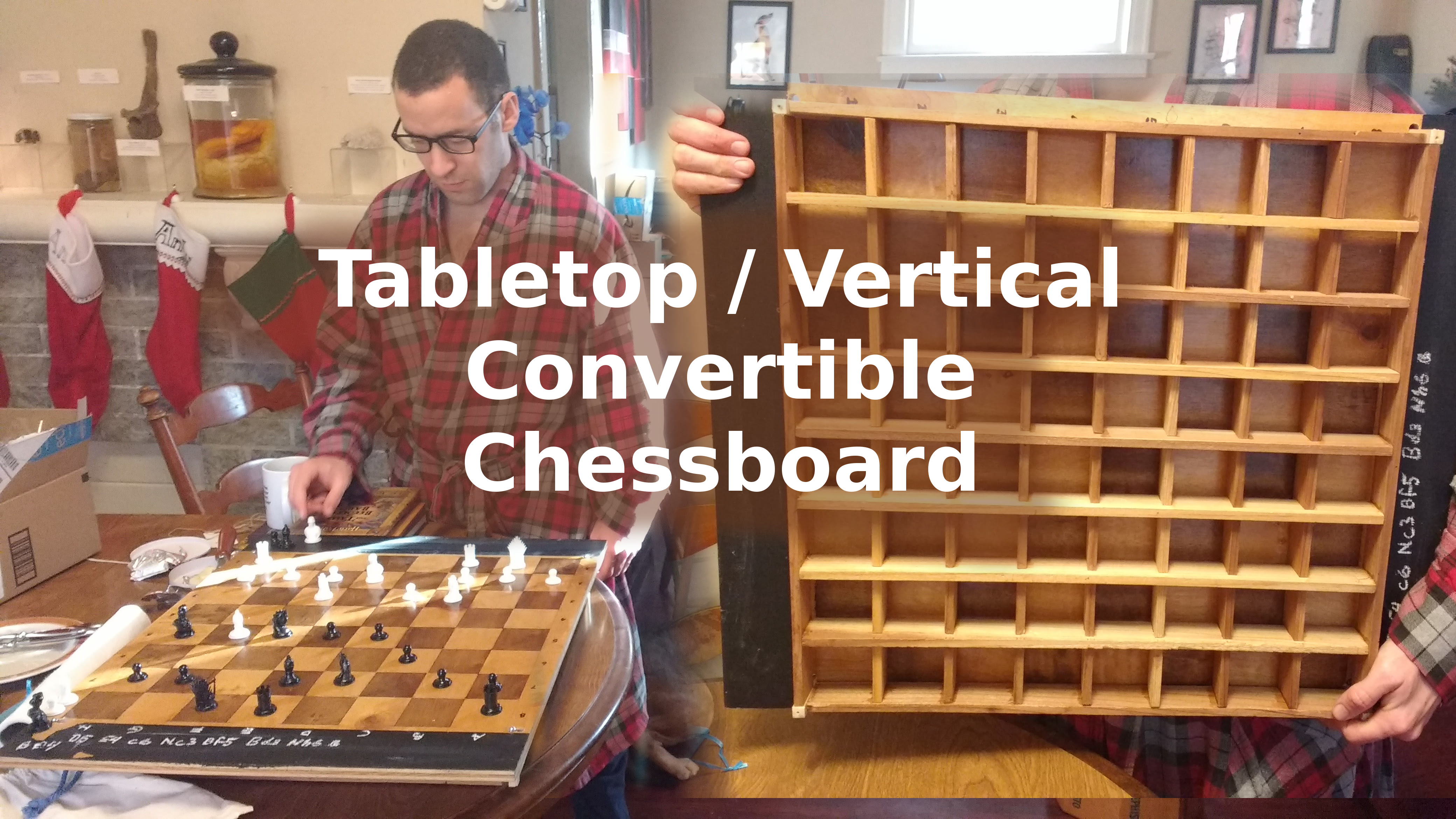 Picture of Tabletop-to-vertical Convertible Chessboard
