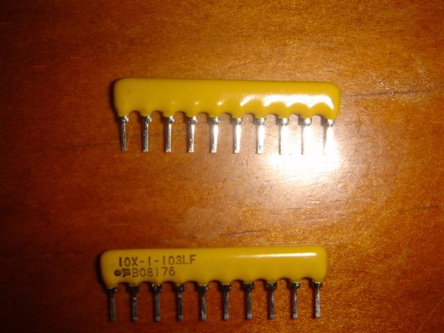 Picture of Solder Resistor Networks