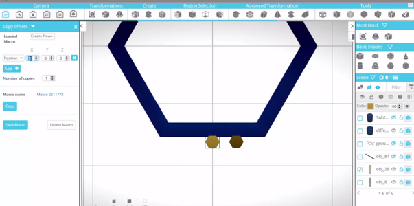 Moving the Model to the Edge of the Tube and Distributing It