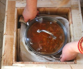 Home-made Fuelless Cookery. On the Beach. Marmite norvegienne, le test. Cocinar sin fuego la prueba