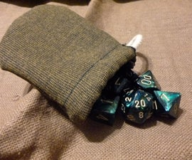 Small, Rustic Dice Bag