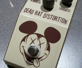 DIY Rat Clone Distortion Guitar Effect Pedal - The Dead RAT