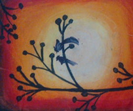 Natural Scene by Oil Pastels
