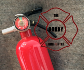 Dorky Firefighter Fire Extinguisher