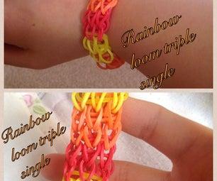 Rainbow Loom Triple Single