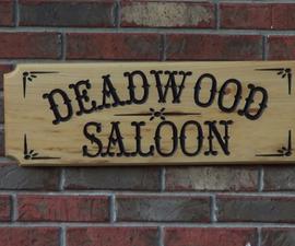 Deadwood Saloon sign