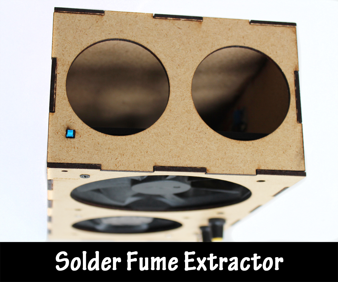 Picture of Laser Cut Solder Fume Extractor