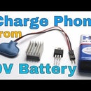 Charge your cellphone from 9V battery
