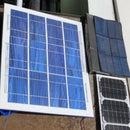 Building a cheap, splashproof solar panel for fun