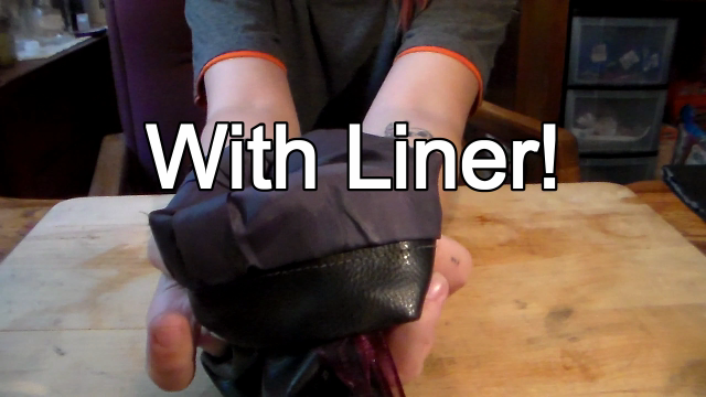 Picture of Leather Pouch With Liner From Jacket Sleeve