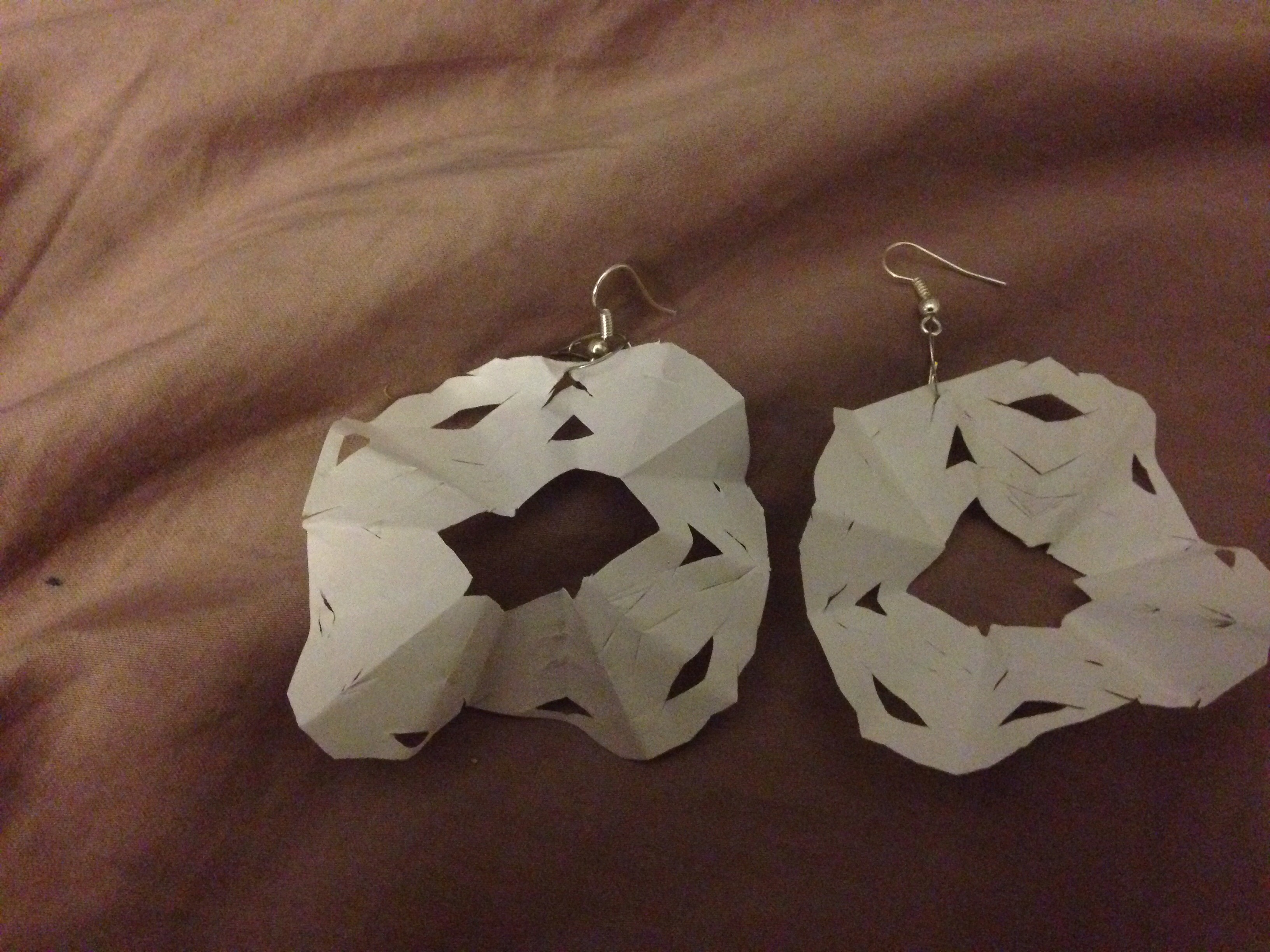 Picture of Paper Snowflake Earrings