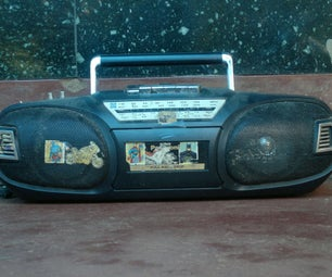 Old Cassette Player Into Bluetooth Boom Box