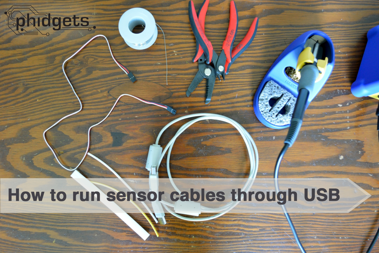 Picture of How to Run Sensor Cables Through USB Cables