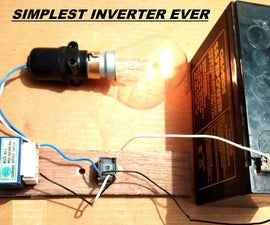 Simplest 12V to 220V DC to AC Power Inverter DIY