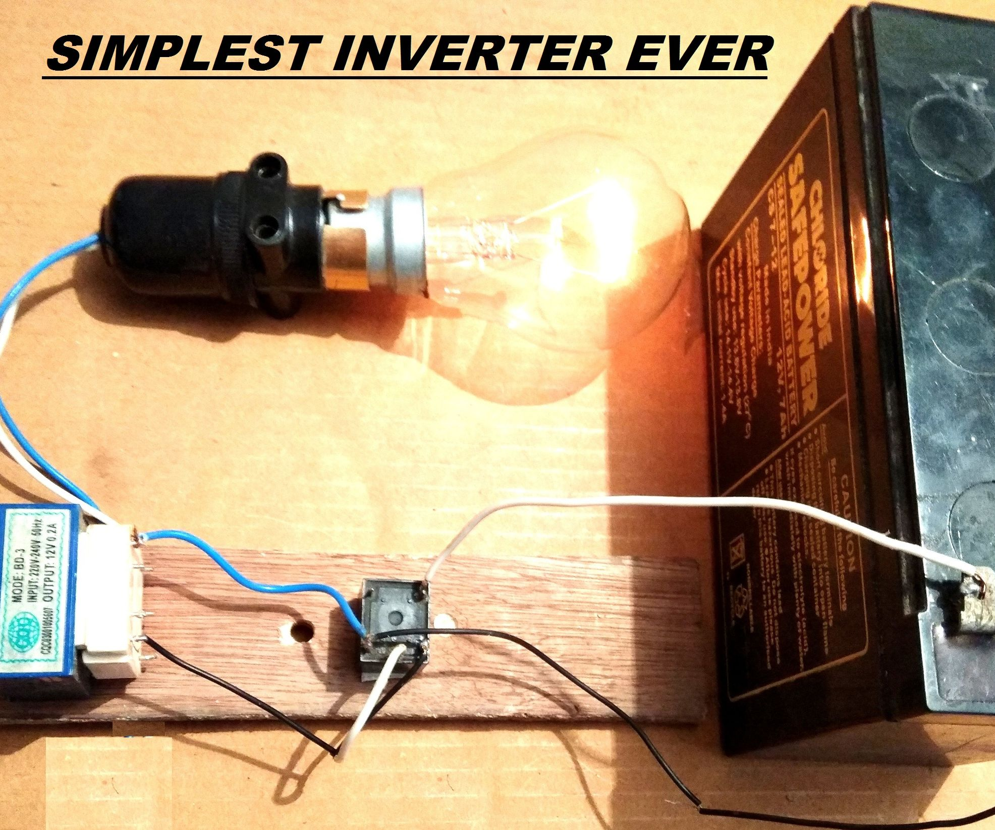 Simplest 12v To 220v Dc Ac Power Inverter Diy 3 Steps With Relay 12 Volt 5 Kaki Pictures