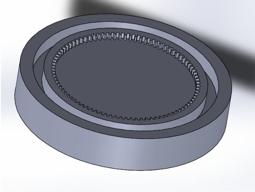 """Picture of """"Extrude Base"""" the Sketch by 4mm to Create the Gear Teeth"""