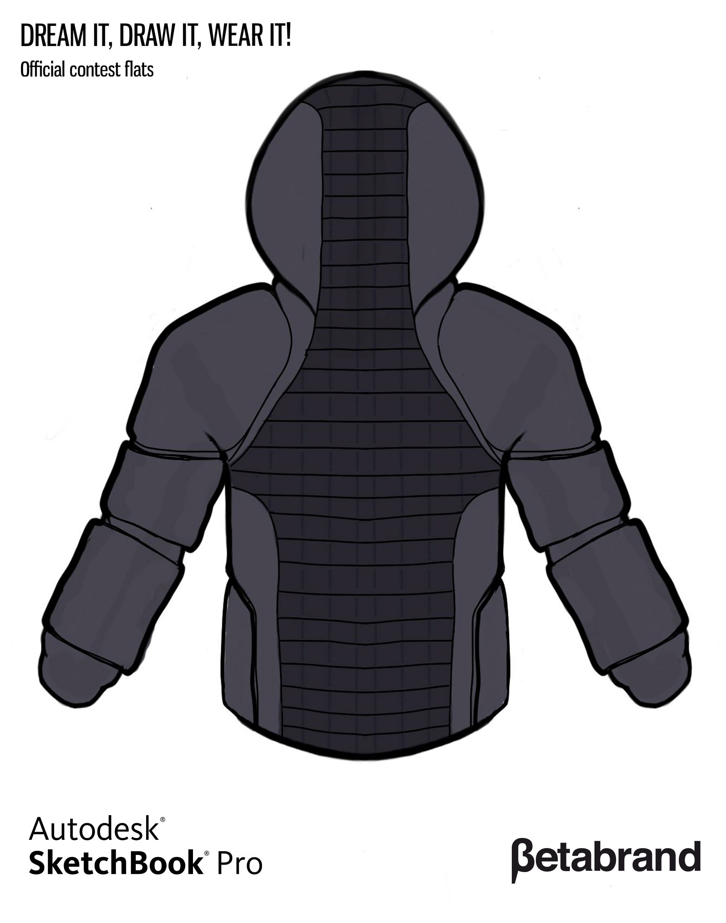 Picture of Detailed Description of Hoodie [Back]