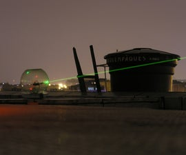 Satellite-spotting laser
