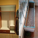 Converting an unattended wardrobe to a balcony planter with basic tools