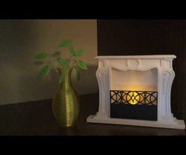 3d Printed Fireplace With Fusion 360.