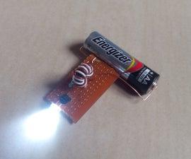 Led with a single AA battery aka joule thief
