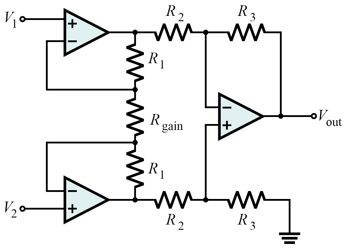 Build An Emg Audio Amplifier Electromyography 8 Steps With Amp Circuit Diagram Instrumentation