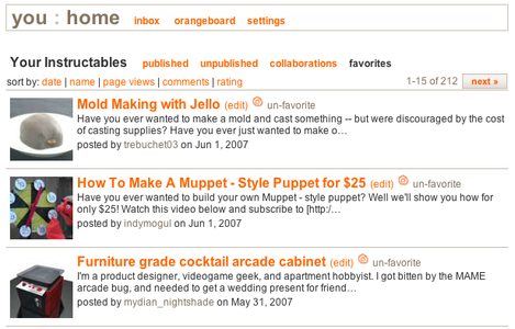 How to Add an Instructable to Your List of Favorites and How to Rate an Instructable