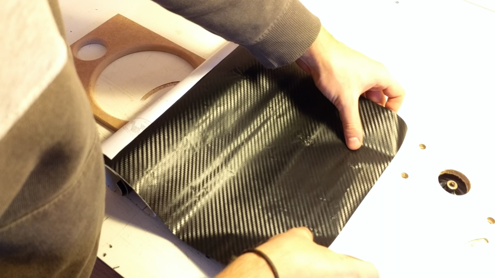 Picture of Applying the Carbon Fiber Vinyl