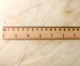 "12"" Ruler Template for Laser Cutters"